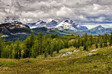 Wild landscape mountain range view, Banff national park, Canada