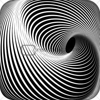 Abstract op art design.