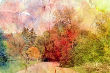 retro autumn landscape