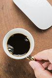 Arabica coffee cup