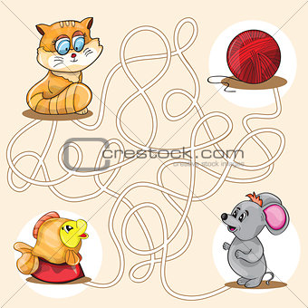 Cartoon Vector Illustration of Education Maze