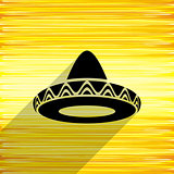 Mexican sombrero icon