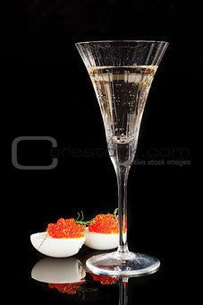 Champagne and caviar.