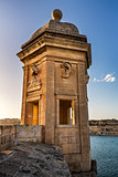 Fortified Tower in Gardjola Gardens, Malta