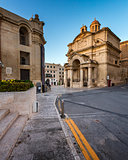 Saint Catherine of Italy Church and Jean Vallette Pjazza in the