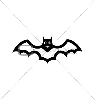 Bat icon isolated on white background