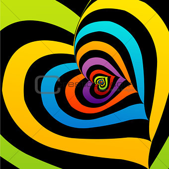 Artistic background with colorful hearts