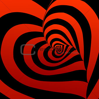 Artistic background with red hearts