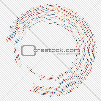 Abstract circle halftone