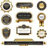 Vintage gold frame vector banners