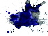 Blue Ink Blot
