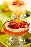 Semolina Pudding with Strawberry