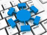 Webinar icon on keyboard
