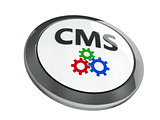 Black CMS icon isometry
