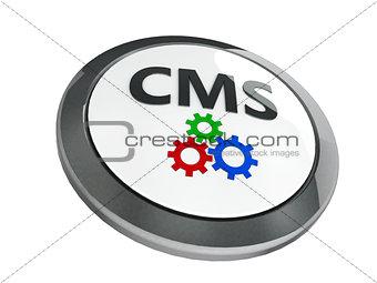Black CMS icon isometry