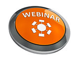 Orange webinar icon isometry