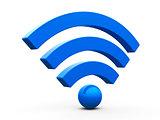 WiFi symbol isometry