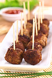 Fried Meatball Appetizers