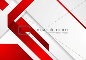 Bright tech corporate red and white background