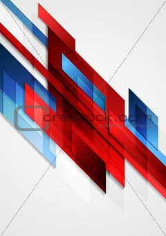 Blue and red hi-tech vector motion design