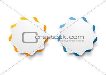 Abstract wavy shape vector sticker