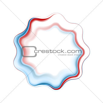 Abstract bright wavy logo ring