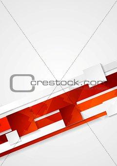 Corporate red tech design