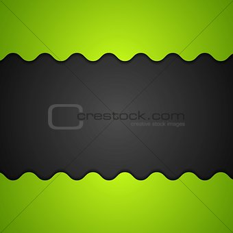 Green and black corporate background