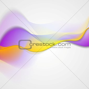 Bright abstract wavy vector background