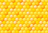 Abstract honeycombs illustration. Tech geometric design