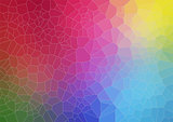 Colorful abstract background with voronoi shapes