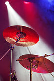 Drum plates on stage