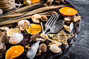 fork and spoon decorations