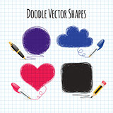 Vector Doodle Shapes Set