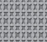 Vector seamless background. Grey volumetric grid