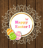 Easter banner with lace and eggs