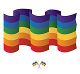 Gay Rainbow flag. Vector