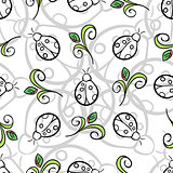 Ladybug Gray Pattern