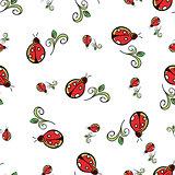Ladybug White Pattern