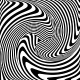 Torsion movement. Op art abstract illustration.