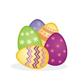 Colorful easter eggs vector icon