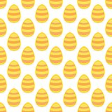Tile vector pattern with easter eggs on white background