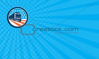 Business card Diesel Train American Stars Stripes Retro