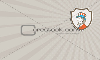 Business card Uncle Sam American Side Shield Crest