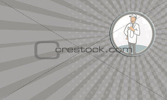 Business card Doctor Veterinarian Vet With Stethoscope Cartoon