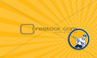 Business card Pressure Washer Water Blaster Rosette Cartoon