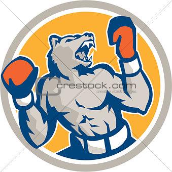 Angry Bear Boxer Gloves Circle Retro