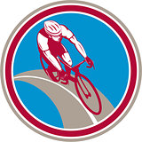 Cyclist Bicycle Rider Circle Retro