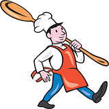 Chef Cook Marching Spoon Cartoon