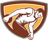 Discus Thrower Shield Retro